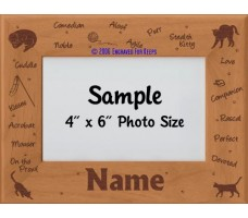 Cat Personalized Picture Frame