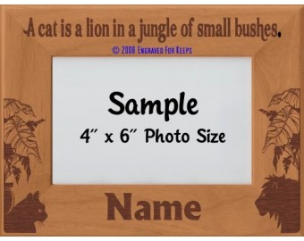 Cat Jungle Personalized Picture Frame