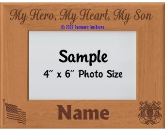 Coast Guard My Hero My Heart My Son Personalized Picture Frame