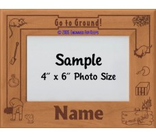 Earthdog Go to Ground Personalized Picture Frame