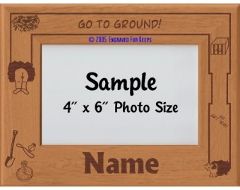 Earthdog Personalized Picture Frame