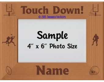 Football Touch Down Personalized Picture Frame