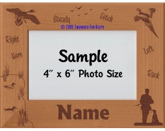 Field Bird Dog Personalized Picture Frame