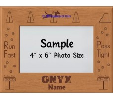 Flyball Dog ONYX Award Personalized Picture Frame