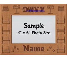 Flyball ONYX Award Personalized Picture Frame