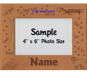 Herding Sheep Personalized Picture Frame