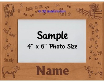 Herding Cattle Personalized Picture Frame