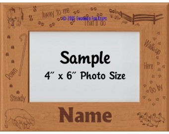 Herding Livestock Personalized Picture Frame