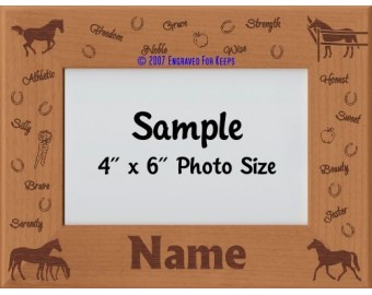 Horse Personalized Picture Frame
