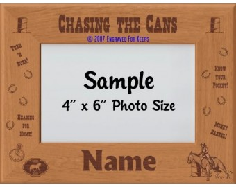 Horse Barrel Racing Personalized Picture Frame