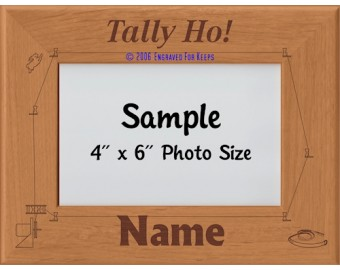 Lure Coursing Personalized Picture Frame