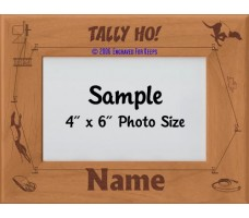 Lure Coursing Sighthound Personalized Picture Frame