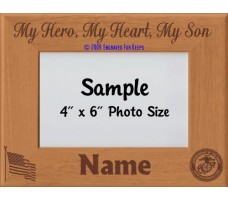 Marine My Hero My Heart My Son Personalized Picture Frame