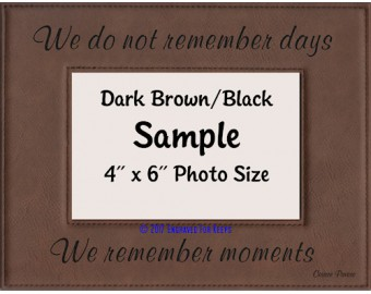 We Do Not Remember Days Picture Frame
