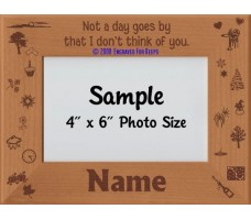 Not a Day Goes By That I Don't Think of You Personalized Memories Picture Frame
