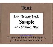 Till Memory Fades and Life Departs Personalized Memorial Picture Frame