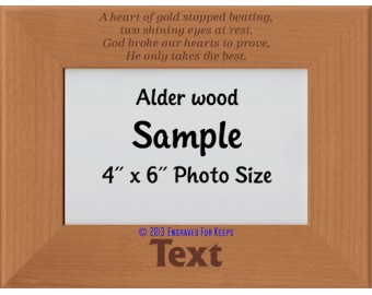 A Heart of Gold Stopped Beating Personalized Memorial Picture Frame