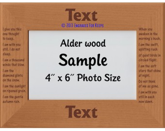 I Give You This One Thought To Keep Personalized Memorial Picture Frame