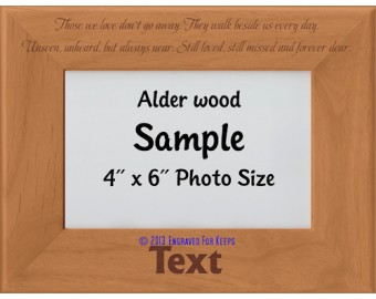 Those We Love Don't Go Away Personalized Memorial Picture Frame