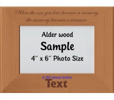 When The One You Love Becomes a Memory Personalized Memorial Picture Frame