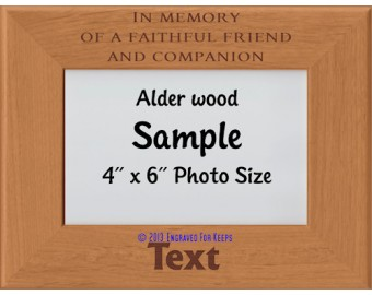 In Memory of Personalized Memorial Picture Frame