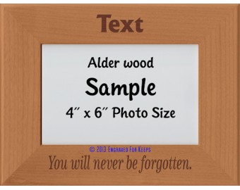 You Will Never be Forgotten Personalized Memorial Picture Frame