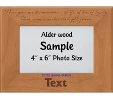 Never Gone Are the Memories Personalized Memorial Picture Frame