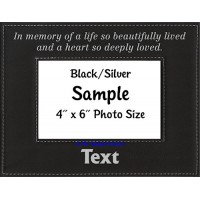 In Memory of a Life So Beautifully Lived Personalized Memorial Picture Frame