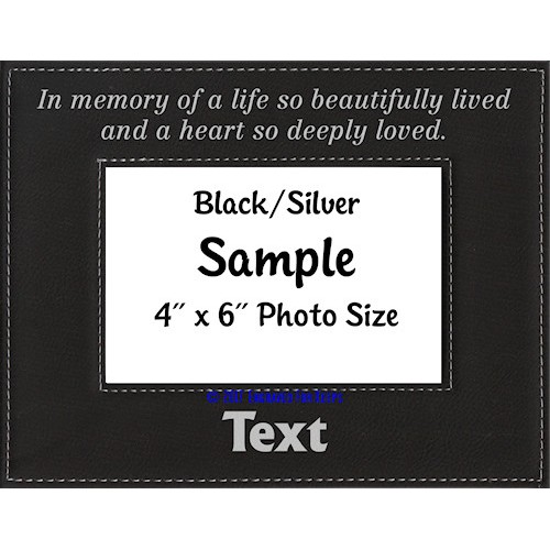In Memory of a Life Personalized Memorial Picture Frame