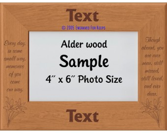 Every Day in Some Small Way Personalized Memorial Picture Frame