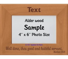 Well Done Thou Good and Faithful Servant Personalized Memorial Picture Frame