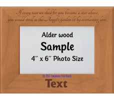 If Every Tear We Shed for You Personalized Memorial Picture Frame