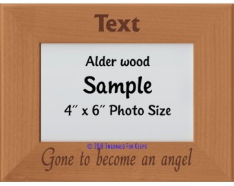 Gone to Become an Angel Personalized Memorial Picture Frame