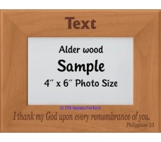 I Thank my God Upon Every Remembrance of You Personalized Memorial Picture Frame