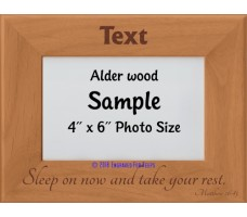 Sleep on Now and Take Your Rest Personalized Memorial Picture Frame