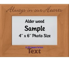 Always in our Hearts Personalized Memorial Picture Frame