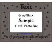 You Left Your Paw Prints All Over My Heart Personalized Memorial Picture Frame