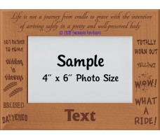 Life is Not a Journey from Cradle to Grave Personalized Memorial Picture Frame