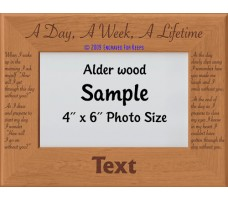 A Day A Week A Lifetime Personalized Memorial Picture Frame