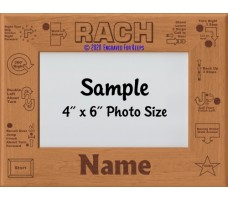 Rally Champion RACH Personalized Picture Frame