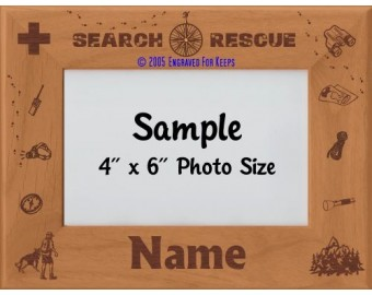Search and Rescue Dog SAR Personalized Picture Frame