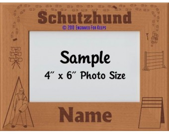 Schutzhund Award Personalized Picture Frame