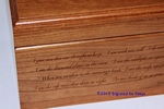 "4"" x 8"" x 3.75"" Cherry Wood Box Close-up"