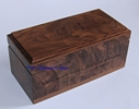 "4"" x 8"" x 3.75"" Dark Walnut Wood"