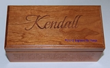 "4"" x 8"" x 3.75"" Cherry Wood Box"